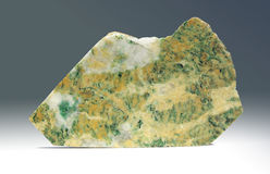 Listvenit - cut of green ornamental stone Royalty Free Stock Images