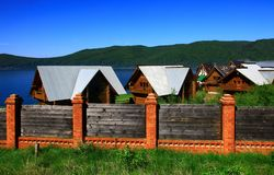 Listvianka settlement, Lake Baikal, Russia. Stock Images