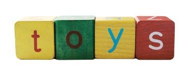 listy blokowych zabawki Zdjęcia Stock