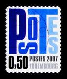 Listy, 50 centów obowiązek, Postocollant, seria, około 2007 Fotografia Stock
