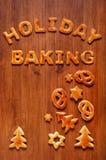 Listy ciasto i bożych narodzeń ciastka na stole Zdjęcie Royalty Free