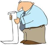 listy długi mężczyzna czytanie Obrazy Stock
