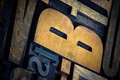 listy drukują drewnianego Zdjęcie Stock