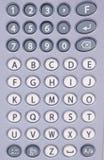 Listy i liczby abstrakcjonistyczni Zdjęcie Stock