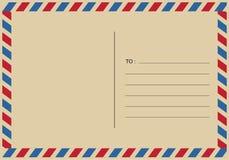 Listy i postmarks, airmail projekty wektorowi royalty ilustracja