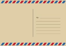 Listy i postmarks, airmail projekty wektorowi ilustracji