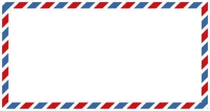 Listy i postmarks, airmail projekty wektorowi ilustracja wektor