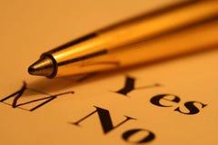 listy kontrolnej długopis. zdjęcie royalty free