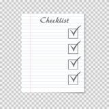 Listy kontrolnej pojęcie Robić liście na szkolnym notatnika papierze CheckMark ilustracji