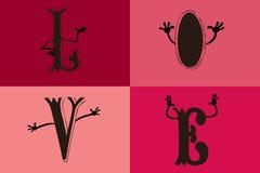 Listy miłośni Ilustracja Wektor