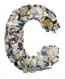 Listy robić od gazetowego capitel C Obraz Stock