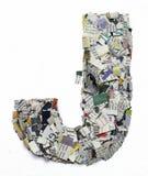 Listy robić od gazetowego capitel J Obraz Stock