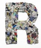 Listy robić od gazetowego capitel R Fotografia Stock