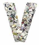 Listy robić od gazetowego capitel V Obraz Royalty Free