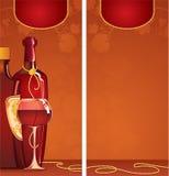 listy szablonu wino ilustracji