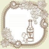 listy wino Zdjęcie Stock