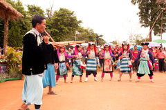Lisu hill tribe traditional dancing in Thailand. Royalty Free Stock Photos
