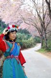 Lisu hilltribe. Lisu hill tribe woman in full costume dress Stock Image