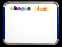 liszt chopin доски магнитное Стоковые Фото