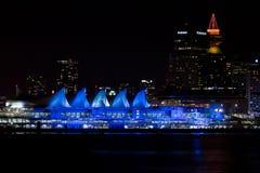 Lit вверх по месту Канады, Ванкуверу, ДО РОЖДЕСТВА ХРИСТОВА Стоковые Фото