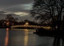 Lit вверх по мосту Стоковое Изображение RF