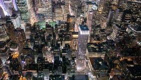 Lit центра города вверх Стоковая Фотография RF