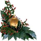 Διακοσμημένο LIT κερί Χριστουγέννων Στοκ Εικόνες