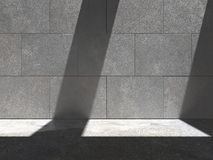 Lit-Betonmauer 05a Stockfotografie