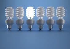 Lit bulb Stock Image