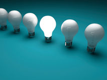 Lit bulb Royalty Free Stock Images