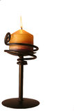 Lit-bunter Kerzenhalter Stockbild