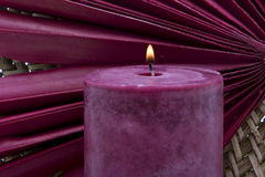 Lit candle Stock Image