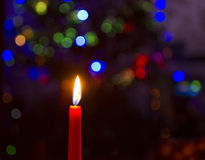 Lit candle Royalty Free Stock Photos