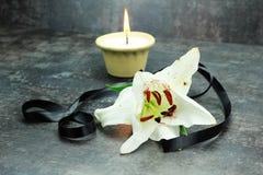 Lit candle Stock Photos