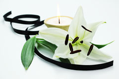 Lit candle Royalty Free Stock Images