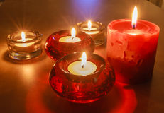 Lit Candles Royalty Free Stock Photo