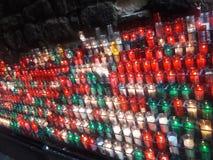 Church candles Monsterrat Spain royalty free stock photos