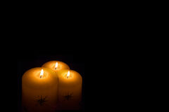 Lit Candles Royalty Free Stock Photos
