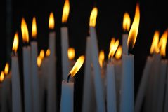 Lit candles Royalty Free Stock Images