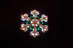 Lit Christmas snowflake Stock Images