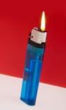 Lit Cigarette Lighter Stock Photo