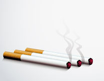 Lit cigerettes Stockfoto