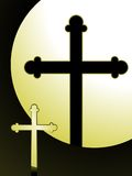 Lit cross Stock Images
