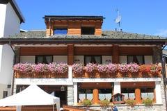 Lit de Capriolo - et - hôtel de petit déjeuner Images libres de droits