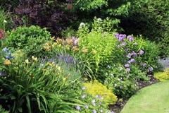Lit de fleur de jardin Photo libre de droits