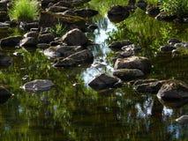 Lit de la rivière Images libres de droits