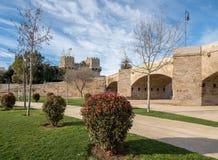 Lit de la rivière sec dans la ville antique de Valencia Spain Images libres de droits