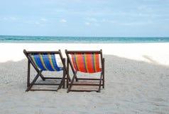 Lit de plage Image stock