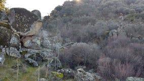 Lit de rivière dans les roches Photos libres de droits