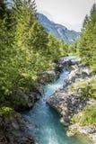 Lit de rivière de Soca Image libre de droits